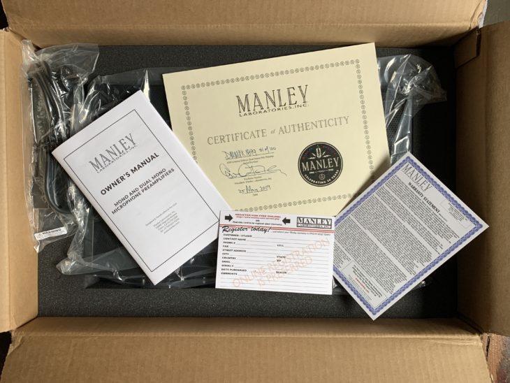 Manley Dual Mono Mic Preamp