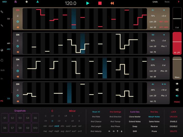 Marcos Kohler PolyPhase, Generative MIDI-Sequenzer
