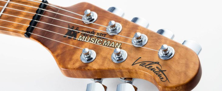 Music Man Valentine Trem headstock