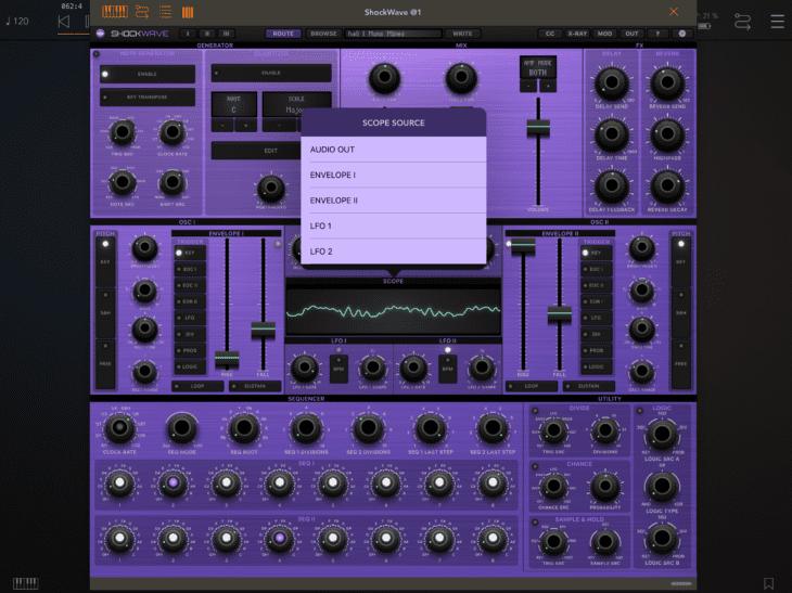 Numerical Audio Shockwave iOS AUv3 Scope