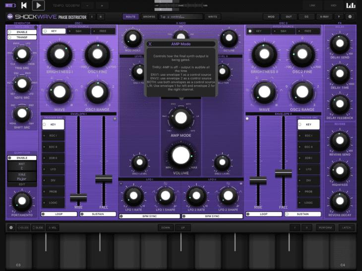 Numerical Audio Shockwave iOS Bedienungs-Overlay