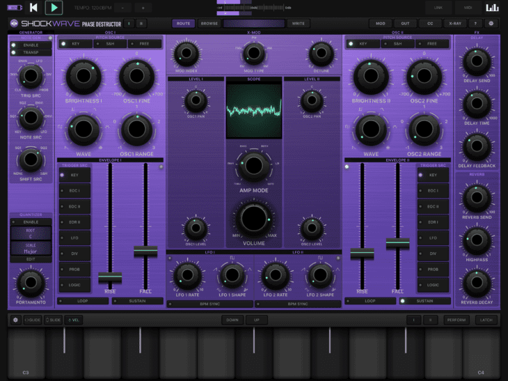 Numerical Audio Shockwave iOS Hauptansicht Standalone