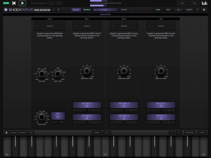Numerical Audio Shockwave iOS MIDI-Ausgabe