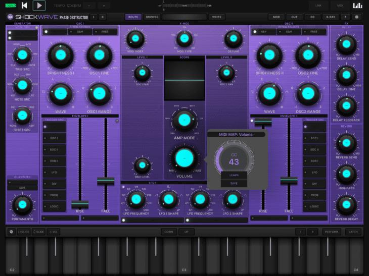 Numerical Audio Shockwave iOS MIDI-CC