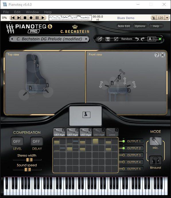 Pianoteq Pro 6 - Mikrofonpositionen