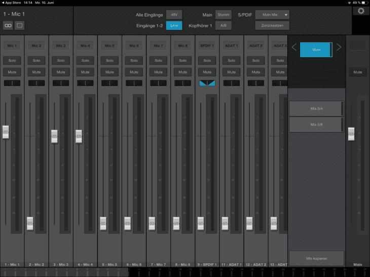 PreSonus Studio 1810c UC iOS - nur zur Fernsteuerung