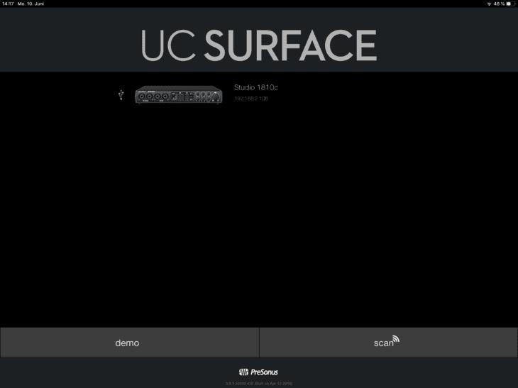 PreSonus Studio 1810c UC iOS