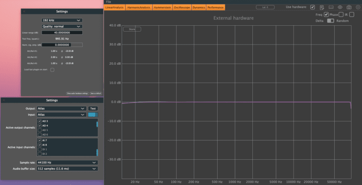 Prism Sound Atlas Linear Freq-Sweep -0dBFS