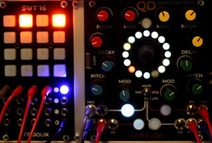 Quad Drum Voice und Robaux SWT16 im Verbund