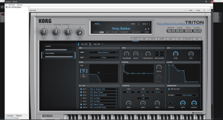 REAPER mit KORG Collection TRITON Plugin