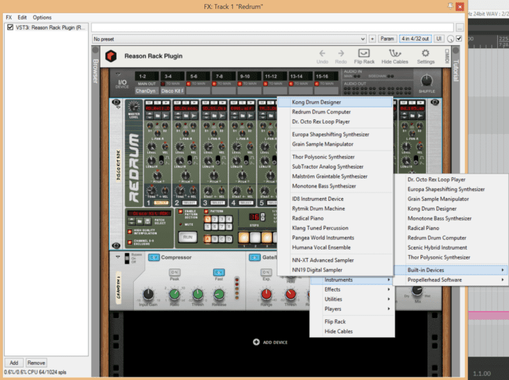 Reason Studios Reason 11 - Rack Instrumente