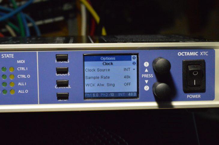 RME Octamic XTC - Clock Source
