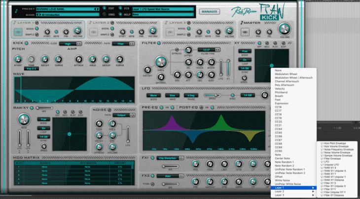 Rob Papen RAW-Kick MIDI-CC