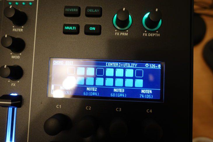 Roland MC-707 Chord Designer