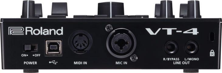 Die Rückseite des VT-4: Jetzt mit MIDI