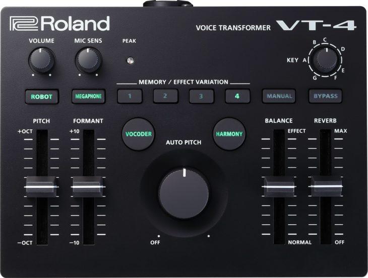 Das Bedienfeld des Roland VT-4 wirkt aufgeräumt