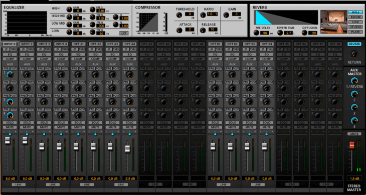 Screenshot Tascam Series Mixer-App