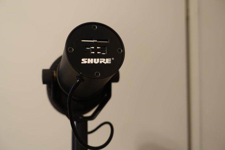 Shure SM7B Rückseite