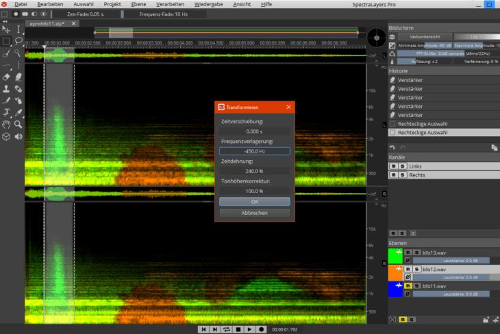 SpectralLayers Pro 6 - Transformieren