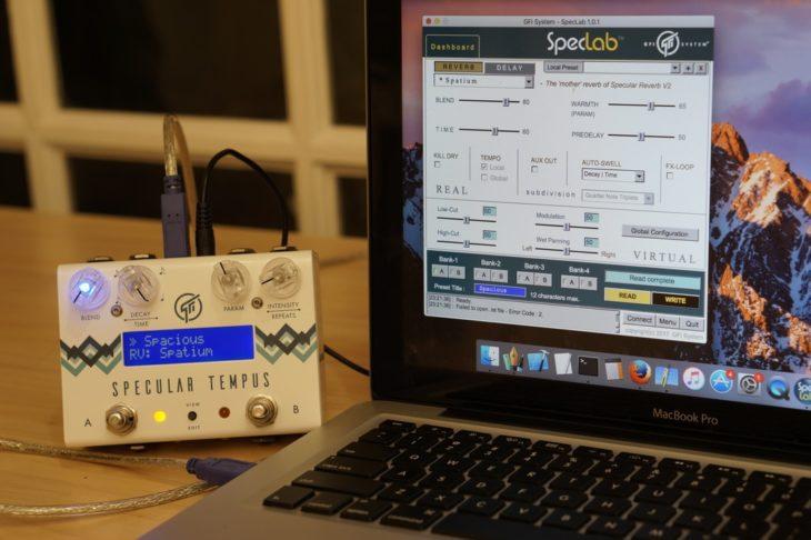 Specular Tempus, Delay- & Reverb-Pedal