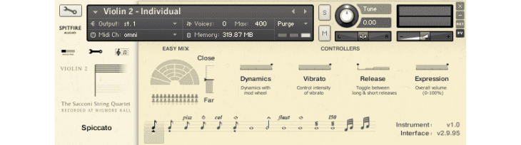 spitfire audio sacconi strings quartett