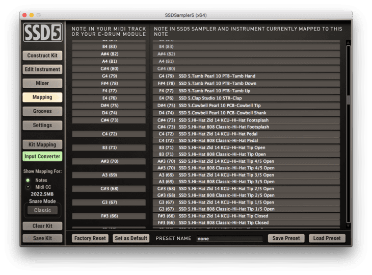 Steven Slate Drums 5 - Input Converter