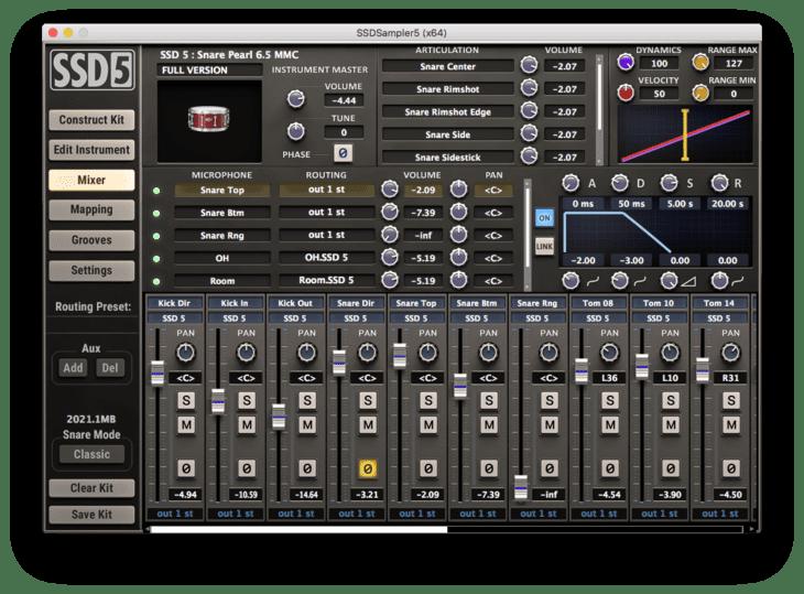Steven Slate Drums 5 - Instrument Editor