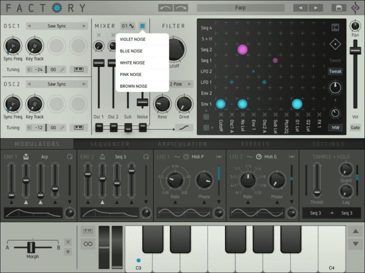 Sugar Bytes Factory iOS Mixer Noise