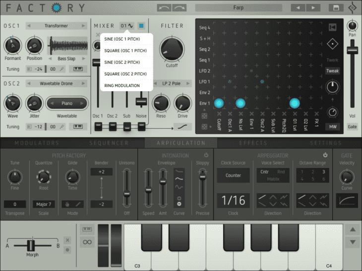 Sugar Bytes Factory iOS Mixer-Sub-OSC
