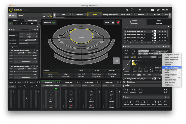 Sunhouse Sensory Percussion - Pitch Quantize