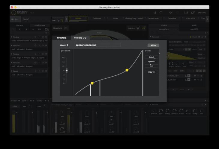 Sunhouse Sensory Percussion - Velocity Curves