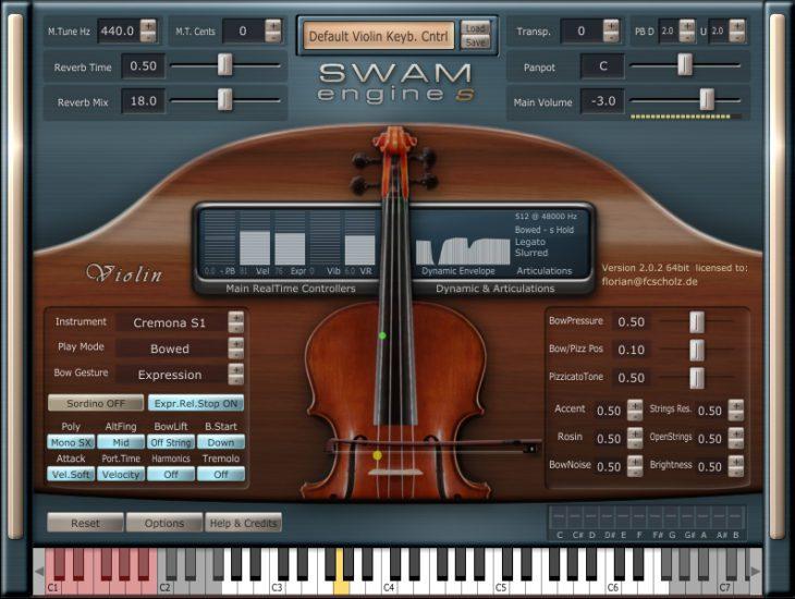 SWAN Solo Violin GUI