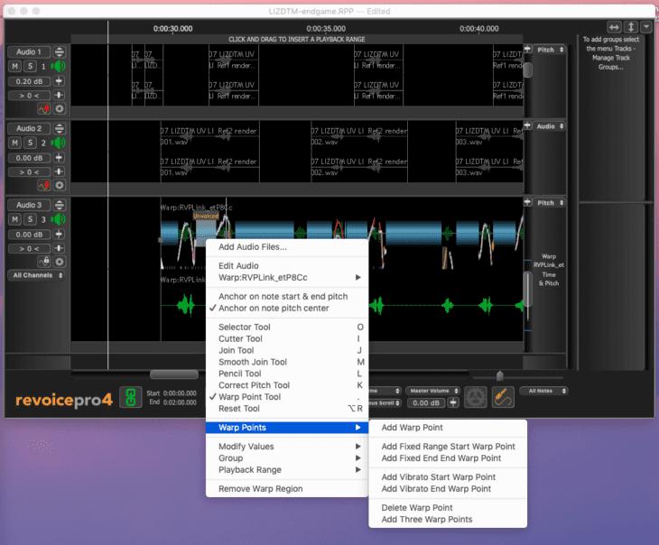 Syncho Arts Revoice Pro 4 Warp-Points