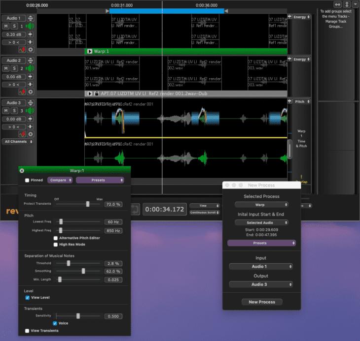 Syncho Arts Revoice Pro 4 Warp Prozess