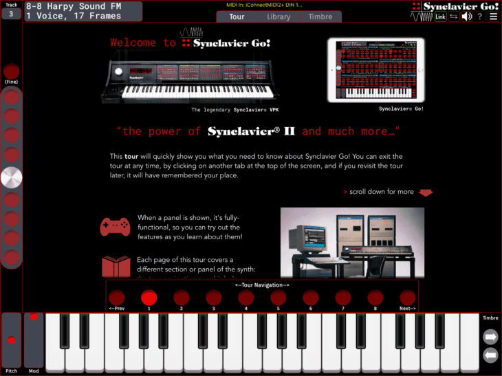 Synclavier Digital Synclavier Go - Tour