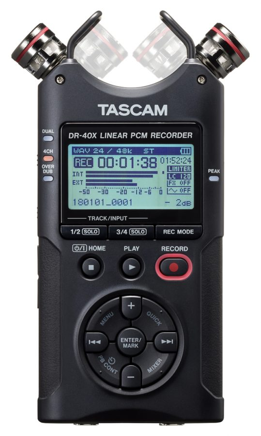 Tascam DR-40X Front