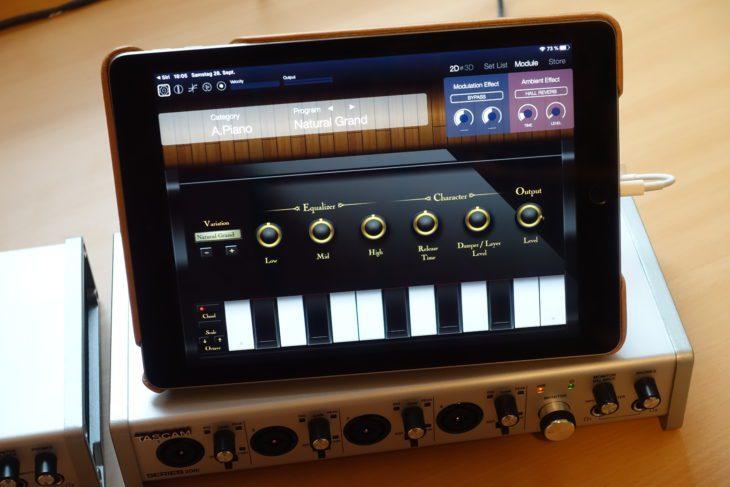 Tascam Series 208i mit iPad