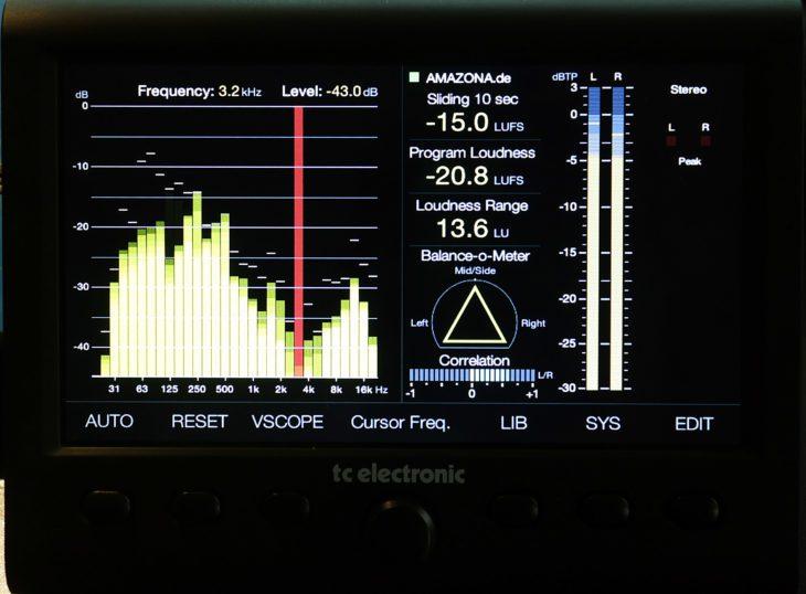 TC Clarity M Stereo Analyzer