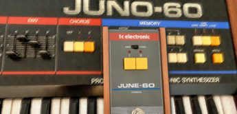 Test: TC Electronic JUNE-60 Chorus-Pedal vs. Roland Juno-60