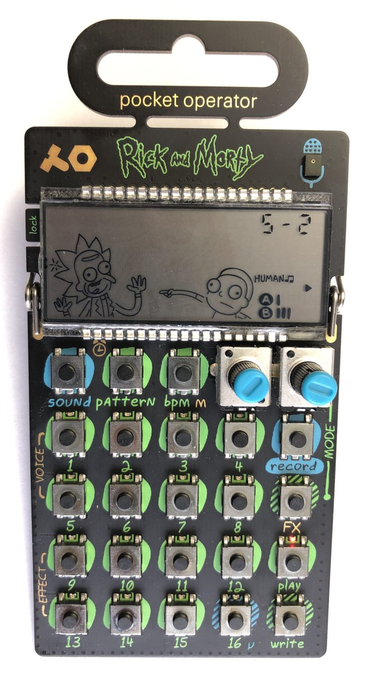 Teenage Engineering PO-137 Rick and Morty Front