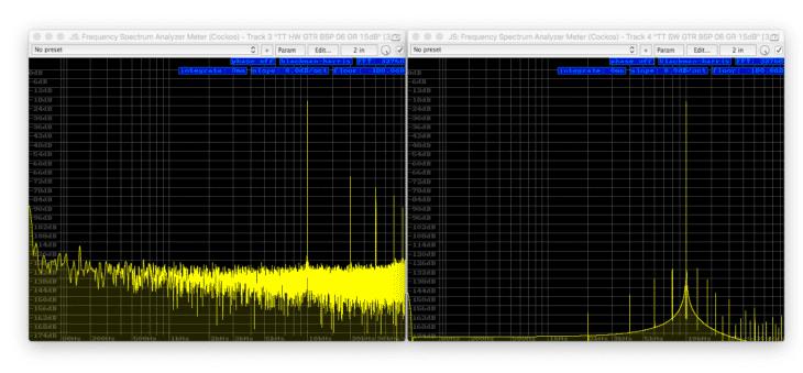 Tube-Tech CL1B Vergleich - Sinus 10kHz -180dB FS