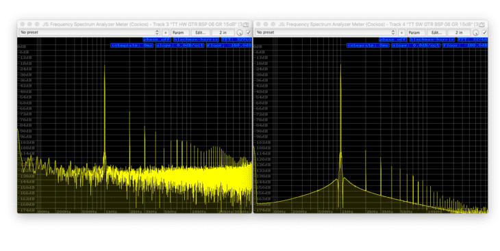 Tube-Tech CL1B Vergleich - Sinus 1kHz -180dB FS