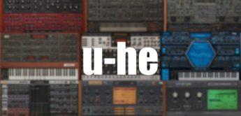 Alle u-he Synthesizer und Effekt-Plugins auf einen Blick