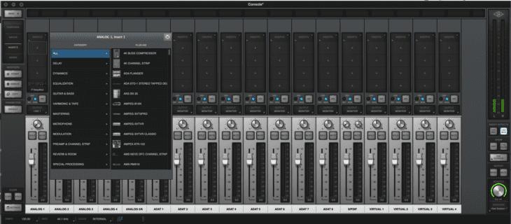 Universal Audio Apollo x6 Console Inserts