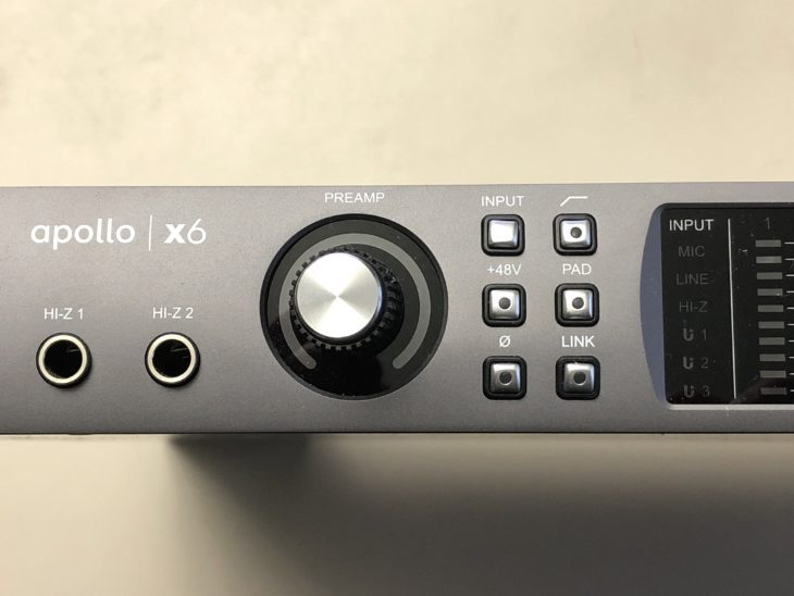Universal Audio Apollo x6 Input-Einstellungen