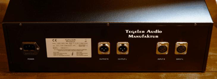 Tegeler Audio Manufaktur - Vari Tube Compressor Rückseite