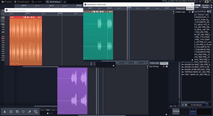 Das neue Track-Editor-Fenster