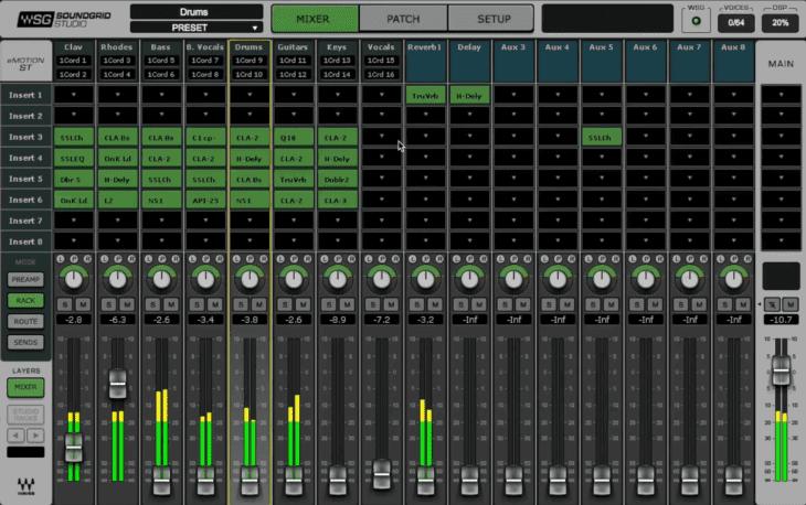 Waves SoundGrid - emotionST Mixer