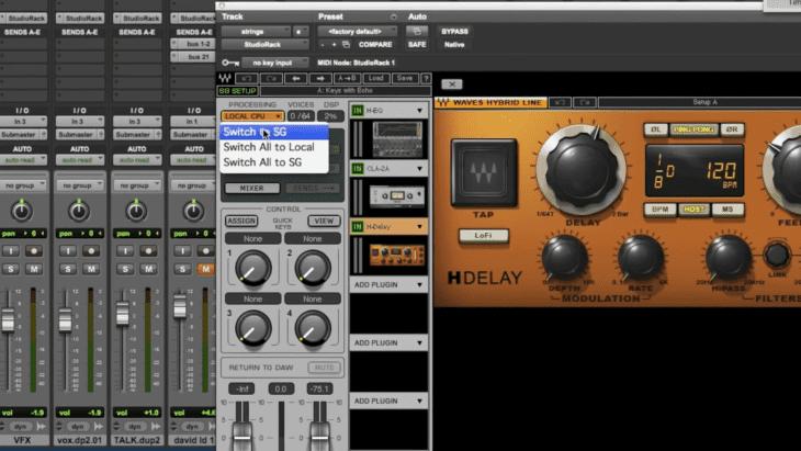 Waves SoundGrid - StudioRack ProTools