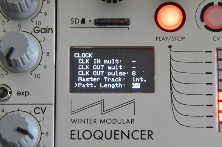 Winter Modular Eloquencer - Clock